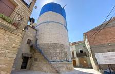 Desmantellada la rehabilitació defectuosa de la torre d'Ivorra
