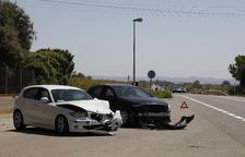 Un herido en una colisión de dos vehículos en la N-240 en Juneda