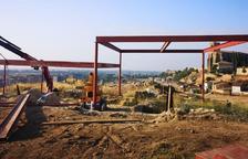 Instalan una cubierta en el yacimiento del Castell Formós