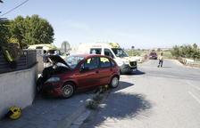 Un herido en una colisión entre dos coches en Arbeca
