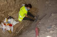 Hallan restos de un esqueleto humano en unas obras en Anglesola