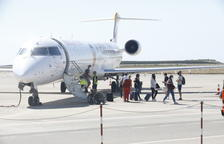 Alguaire reestrena els vols a Palma amb els primers 72 viatgers