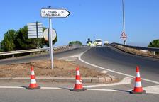 Cortado el acceso de El Palau d'Anglesola a la autovía por obras en la calzada