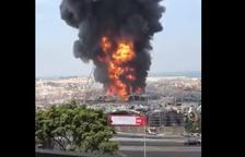 VÍDEO | Nuevo incendio en el puerto de Beirut un mes después de la explosión