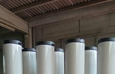 Ceniceros disuasorios para erradicar colillas en Alfarràs