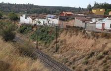 Inversió de 450.000 euros per consolidar el talús de la via a Raimat després de 10 anys