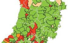 Menys de quaranta municipis de Lleida tenen un alt risc de rebrot
