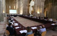 L'acte de constitució de la mesa transversal per a la recuperació de la ciutat de Lleida.