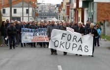 Una protesta contra okupaciones.