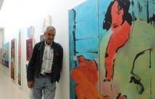 El artista de La Seu d'Urgell Perico Pastor inauguró ayer una exposición en la galería Indecor de Lleida.