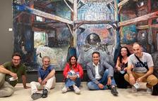 El hijo de Chillida inaugura el parque de escultura Alma de Almacelles