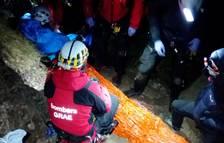 Trece horas de rescate en Collegats tras pasar la noche junto al herido