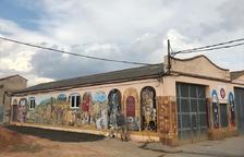 Palau de Noguera inaugura el mural que plasma su historia