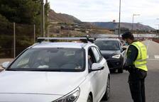 Primer dia de confinament perimetral de l'Aragó amb controls policials i bars buits a la Franja