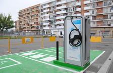 Lista la estación de carga de coches eléctricos en Mollerussa