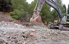 Algerri mejora el acceso al camino del castillo para las obras