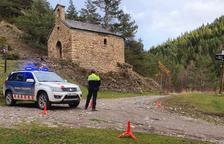 Controles para evitar vehículos en el parque del Alt Pirineu