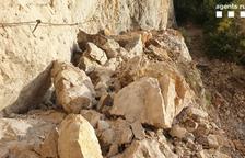 Tancat 'sine die' el congost de Mont-rebei per una allau de roques que enfonsa part del camí natural