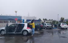 Afluència per rentar el cotxe al Pla d'Urgell