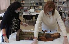 Llega a Balaguer la talla gótica adquirida en 2019 por la Generalitat en una subasta