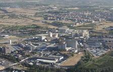 Imatge aèria del polígon industrial El Segre, als afores de la ciutat de Lleida.