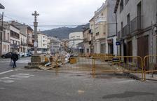 Torà renueva la céntrica plaza de la Creu e invierte 44.000 euros en la obra