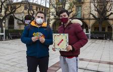 Dos jóvenes de Agramunt crean un juego de mesa de inspiración local
