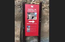 Critiquen la reutilització a Concabella d'un cartell del Memorial Democràtic