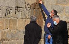 Denuncian una pintada en la catedral de La Seu d'Urgell