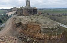 Reponen el muro del cementerio de Sant Esteve de Pelagalls