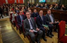 Els nou condemnats pel procés durant la celebració del judici al Tribunal Suprem.