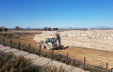Arbeca inicia la restauración del foso del yacimiento de Els Vilars