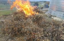 Incendis de palla a Bell-lloc i de matolls a Sudanell i Agramunt