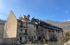 Una decena de afectados por el incendio de Esterri