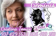 Cristina Tomás - GÉMINIS