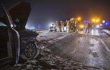 Mueren un niño y un motorista en accidentes en Sanaüja y Anglesola