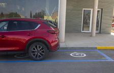 Plaza de parking para discapacitados en Tornabous