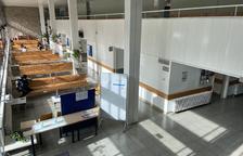 La caldera de biomassa de l'Espitau, a punt a la tardor