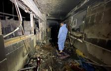 Al menos 82 muertos en el incendio de un hospital de Covid en Bagdad