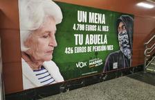 L'Audiència de Madrid avala la decisió de no retirar el cartell de Vox sobre menors migrants