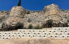 Reforcen el pendent de les muralles de Saidí