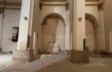 Les proteccions instal·lades en alguns dels pilars del temple.