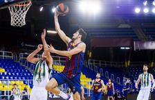 El Barça se olvida de la Final Four y toma ventaja ante la Penya