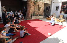 Uno de los espectáculos que se representaron ayer en Torrelameu.