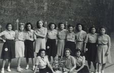 Equips femenins de bàsquet al Frontó de Lleida.