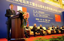 El llavors primer ministre francès, Francois Fillon, en la cerimònia en la qual es va anunciar l'acord per a la construcció d'una central nuclear a Taishan.