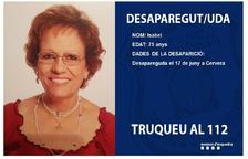 Buscan a una mujer desaparecida en Cervera