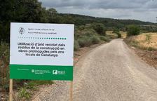La Sentiu de Sió millora 5 camins amb àrids reciclats