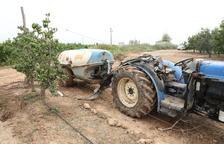 Fallece un agricultor de Seròs de 43 años al volcar su tractor en Soses