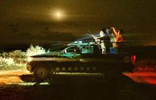 Imagen de una cacería nocturna dirigida por los Agentes Rurales.